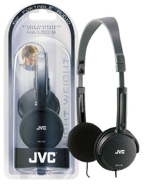 JVC Foldable Headphones Black