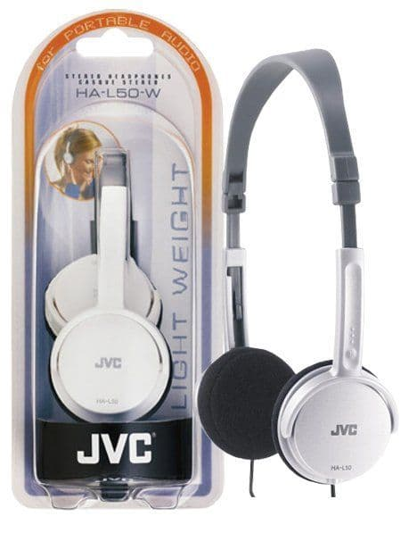 JVC Foldable Headphones White