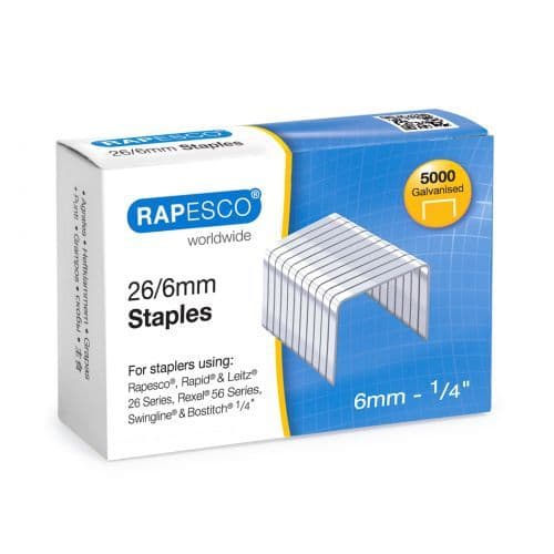 Rapesco Staples 26/6 500pk