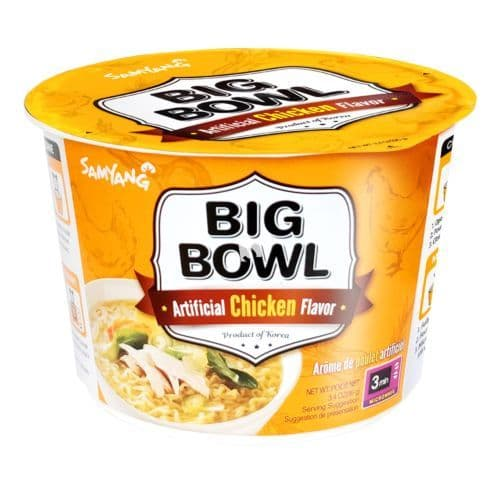 Samyang Big Bowl Instant Noodle - Artificial Chicken Flavour 95gSamyang Big Bowl Instant Noodle - Ar
