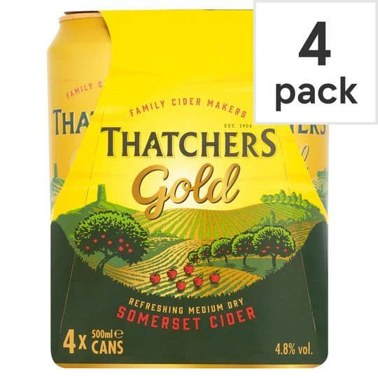 Thatchers Gold Cider 4X440ml Can