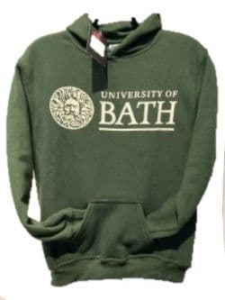 University of Bath Hoodie Bottle Green