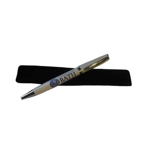 University of Bath Norton White Ball Pen