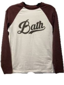 University of Bath Plum Baseball Shirt
