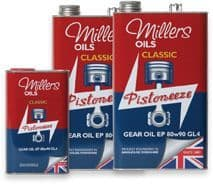 Millers Oils Classic EP80w90 GL4 gear oil for classic transmissions