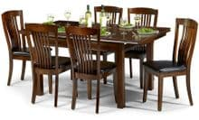 Canberra Mahogany Extending Dining Table