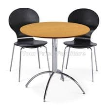Kimberley Dining Set Natural Table & 2 Black Chairs 1/2 Price Deal