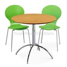 Kimberley Dining Set Natural Table & 2 Green Chairs 1/2 Price Deal