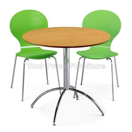 Kimberley Dining Set Natural & 2 Green Chairs Sale Now On Your Price Furniture
