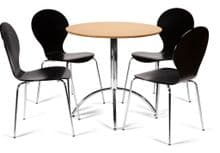 Kimberley Dining Set Natural Table & 4 Black Chairs 1/2 Price Deal