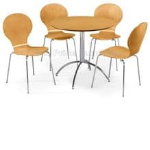 Kimberley Dining Set Natural Table & 4 Natural Chairs 1/2 Price Deal