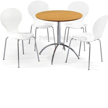 Kimberley Dining Set Natural & 4 White Chairs Sale Now On Your Price Furniture