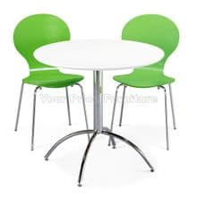 Kimberley Dining Set White Table & 2 Green Chairs 1/2 Price Deal