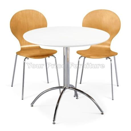 Kimberley Dining Set White Table & 2 Natural Chairs Sale Now On Your Price Furniture