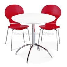 Kimberley Dining Set White Table & 2 Red Chairs 1/2 Price Deal