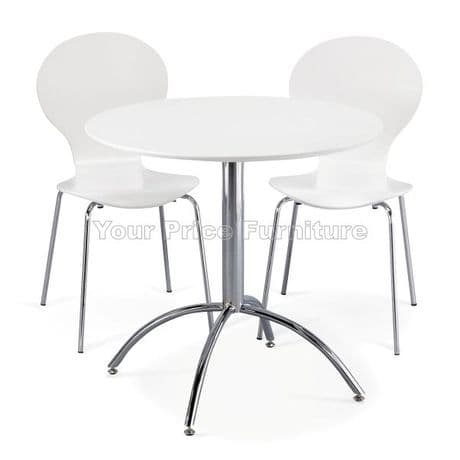 Kimberley Dining Set White Table & 2 White Chairs Sale Now On Your Price Furniture
