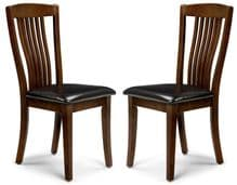 Pair of Canberra Mahogany Dining Chairs