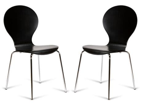Kimberley Black & Chrome Dining Chairs Sale Now On Your Price Furniture