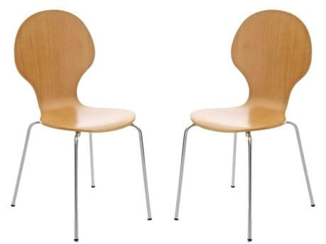 Kimberley Natural & Chrome Dining Chairs Sale Now On Your Price Furniture