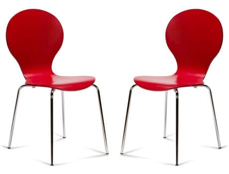 Kimberley Red & Chrome Dining Chairs Sale Now On Your Price Furniture