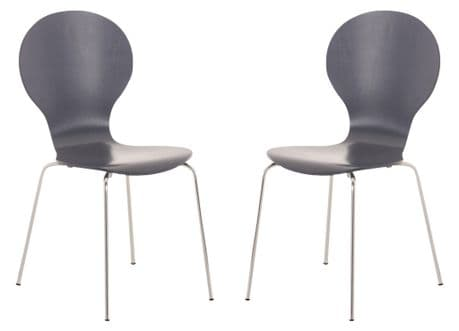 Kimberley Grey & Chrome Dining Chairs Sale Now On Your Price Furniture